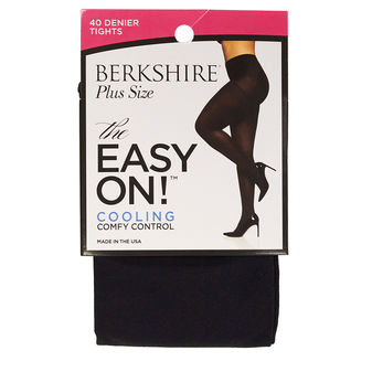 Berkshire Women\'s Plus Size the Easy on 40 Denier Control Top Tights 5035