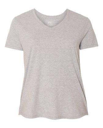 Just My Size Women\'s V-Neck Short Sleeve T-Shirt JMS30