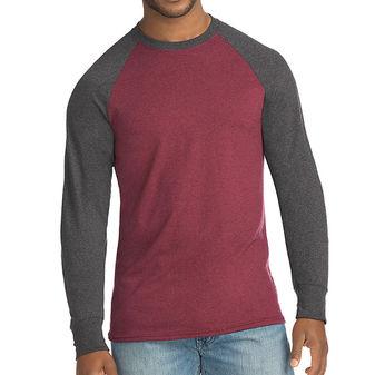 Hanes Men\'s X-Temp w/Fresh IQ Crewneck Long Sleeve Colorblock T-Shirt 5A18