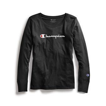 Champion Women Classic Long-Sleeve Tee, Script Logo GT17H Y07418