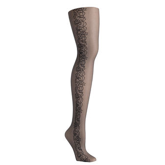 Hanes Fashion Tattoo Floral Control Top Tights HFT031