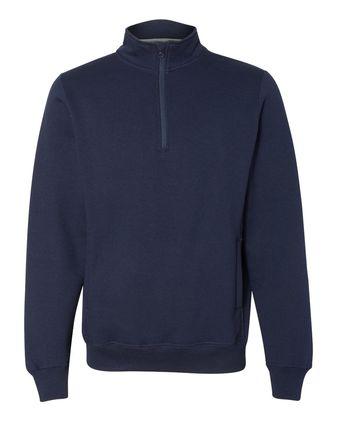 Russell Athletic Dri Power Quarter-Zip Cadet Collar Sweatshirt 1Z4HBM