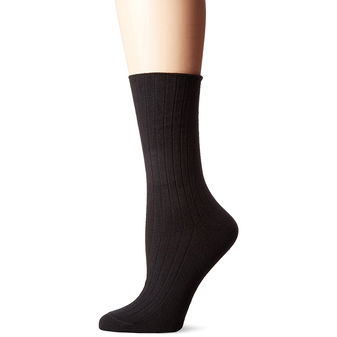 HUE Women\'s Rib Dress Socks 4 Pk U17631