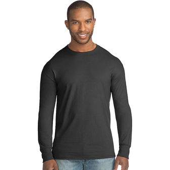 Hanes Big Men\'s X-Temp w/Fresh IQ Crewneck Long Sleeve Fashion T-Shirt 2X-3X 5A31