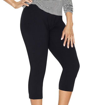 Just My Size Stretch Cotton Womens Capri Leggings Q88908