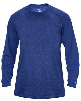 Badger Tonal Sport Heather L/S T-Shirt 4305
