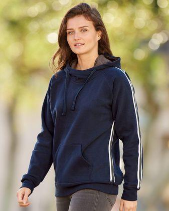 J. America Women\'s Rival Fleece Hooded Sweatshirt 8642