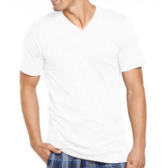 Jockey Men\'s T-Shirts Slim Fit Cotton V-Neck - 3 Pack 8456
