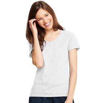 Hanes Womens X-Temp V-Neck T-Shirt 42V0