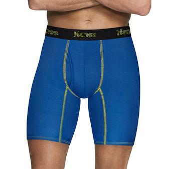Hanes Men\'s Comfort Flex Fit® Breathable Mesh Long Leg Boxer Briefs 3-Pack CFFLP3