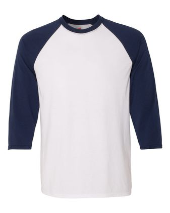 Hanes X-Temp Three-Quarter Sleeve Baseball T-Shirt 42BA