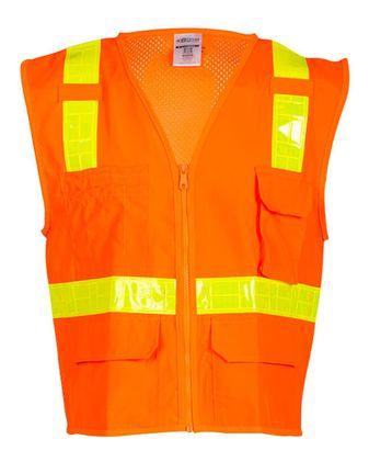 Kishigo Oralite® Solid Front with Mesh Back Vest 1207-1208A