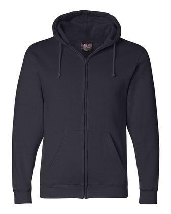 Bayside USA-Made Full-Zip Hooded Sweatshirt 900