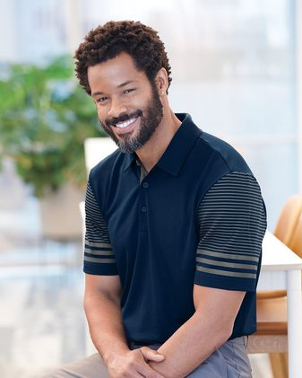 Adidas Striped Sleeve Sport Shirt A490
