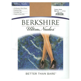Berkshire Women\'s Ultra Nude Control Top Pantyhose with Invisible Toe 4523