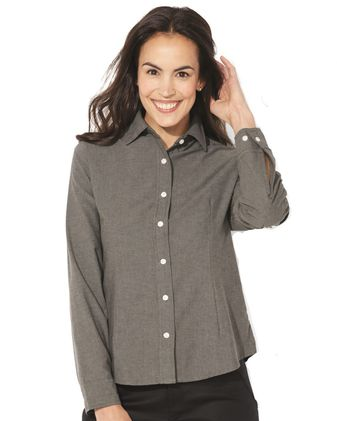 FeatherLite Women\'s Long Sleeve Stain Resistant Oxford Shirt 5233