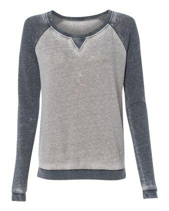 J. America Women\'s Zen Fleece Raglan Sweatshirt 8927