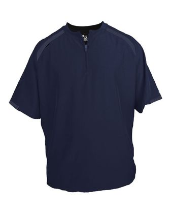 Badger Competitor Short Sleeve Pullover Windshirt 7632