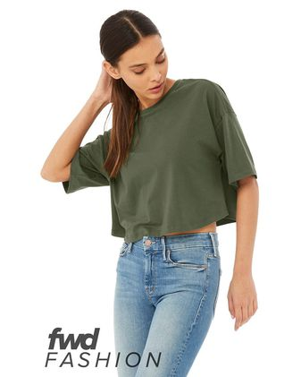 BELLA + CANVAS Fashion Women\'s Jersey Cropped Tee 6482
