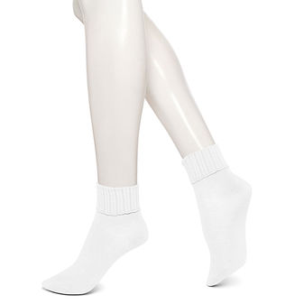 HUE Women\'s Scalloped Turncuff Socks U14931