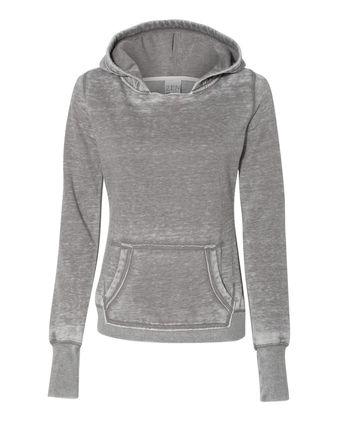J. America Women\'s Zen Fleece Hooded Sweatshirt 8912