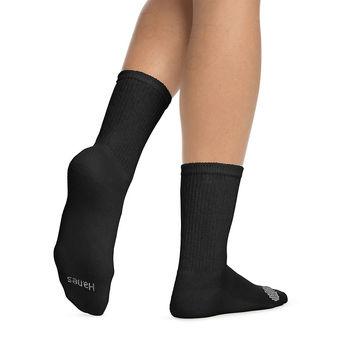 Hanes Women\'s Cool Comfort Crew Socks 6-Pack 683V6