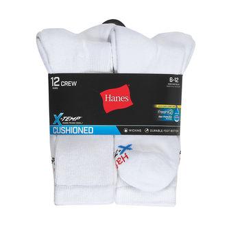 Hanes Men\'s FreshIQ® X-Temp® Active Cool® Crew Socks 12-Pack AC1812