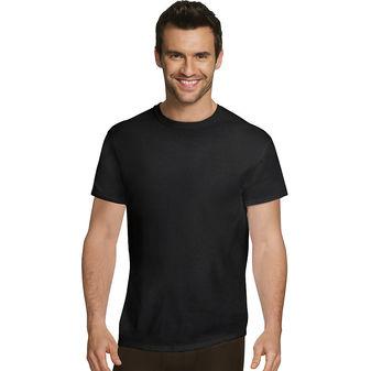 Hanes Ultimate™ Men\'s Comfort Fit Ultra Soft Cotton/Modal Crew Neck Undershirt Assorted Black/Grey 4-Pack UFT1B4