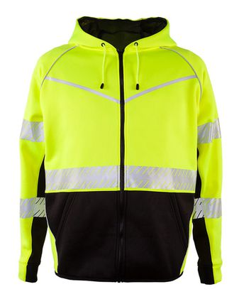ML Kishigo Premium Black Series Full-Zip Hooded Sweatshirt JS150