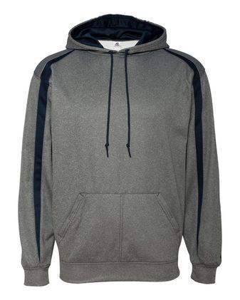 Badger Pro Heather Fusion Performance Fleece Hooded Sweatshirt 1467