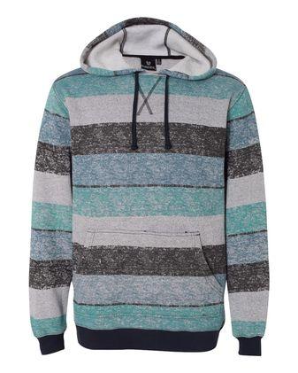 Burnside Printed Stripes Fleece Sweatshirt 8603