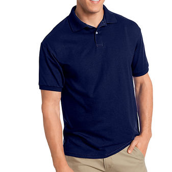 Hanes Cotton-Blend Jersey Mens Polo 054X