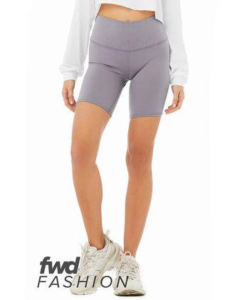 BELLA + CANVAS FWD Fashion Women\'s High Waist Biker Shorts 0814