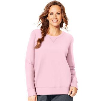 da9cdff90b2 Just My Size ComfortSoft EcoSmart V-Notch Crewneck Womens Sweatshirt OJ098    11.79