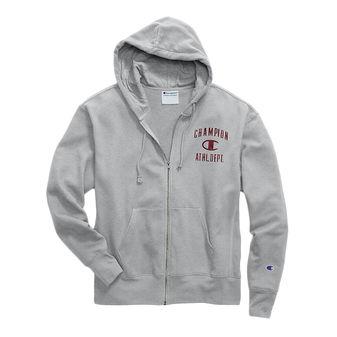 Champion Men\'s Heritage Fleece Zip Hoodie, Distressed C Logo S1232 549309
