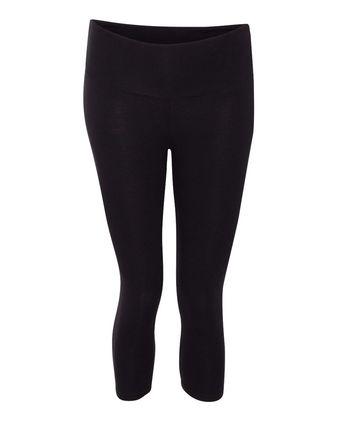 BELLA + CANVAS Women\'s Cotton Spandex Capri Fit Leggings 811