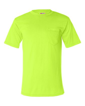 Bayside USA-Made 50/50 Short Sleeve T-Shirt with a Pocket 1725