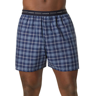 Hanes Men\'s Red Label Exposed Elastic Waistband Boxer P2 841VTY
