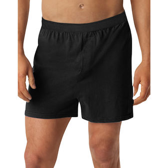 Hanes Men\'s TAGLESS Knit Boxers with Comfort Flex Waistband 3X-5X 3-Pk HN255K