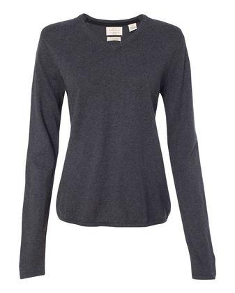 Weatherproof Women\'s Vintage Cotton Cashmere V-Neck Sweater W151363
