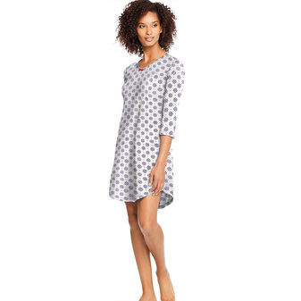 Hanes Womens Knit V-Neck Sleepshirt-Plus HAC80119X
