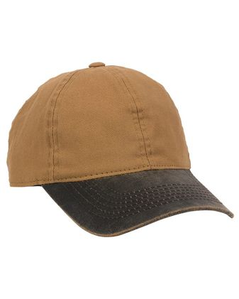 Outdoor Cap Weathered Canvas Crown Cap with Contrast-Color Visor HPK100