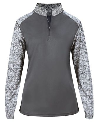 Badger Women\'s Sport Blend Quarter-Zip Pullover 4198