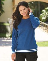 J. America Women's Relay Crewneck Sweatshirt 8652