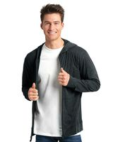 Next Level Sueded Long Sleeve Hooded Full Zip 6491