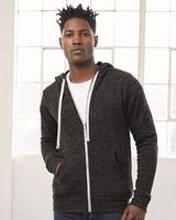 BELLA + CANVAS Unisex Triblend Sponge Fleece Full-Zip Hoodie 3909