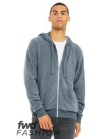 BELLA + CANVAS Fashion Unisex Sueded Fleece Full-Zip Hoodie 3339