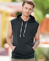 J. America Triblend Sleeveless Hooded Sweatshirt 8877