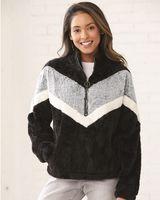 Boxercraft Women's Chevron Fuzzy Fleece Pullover FZ05