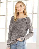 BELLA + CANVAS Women's Sponge Fleece Wide Neck Sweatshirt 7501